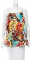 Diane von Furstenberg Silk Abstract Print Top
