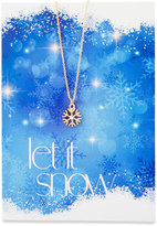 Lydell NYC Snowflake Necklace with Let It Snow Card
