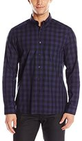 Kenneth Cole New York Men's Long-Sleeve Tonal Plaid Shirt