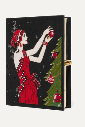 Olympia Le-Tan Olympia Le Tan Tree Appliqued Embroidered Canvas Clutch