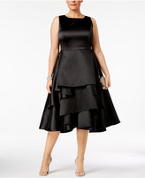 Adrianna Papell Plus Size Tiered Fit & Flare Dress