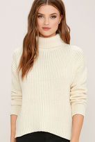 rhythm Snowflake Cream Turtleneck Sweater