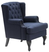Serta At Home Mason Armchair at Home Upholstery Color: Navy Blue