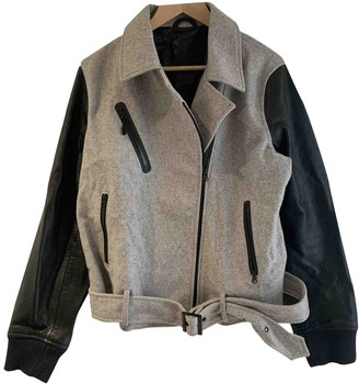 Nike \N Grey Leather Coats