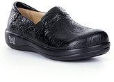 Alegria Keli Soft Patterned Leather Slip-On Clogs