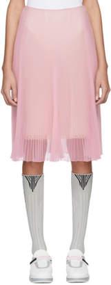 Prada Pink Pleated Chiffon Skirt