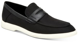 Calvin Klein Men's Trapper Silky Suede Penny Loafers Men's Shoes