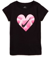 Nike Girl's Gradient Heart Logo Tee