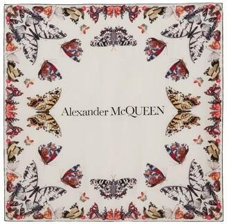 Alexander McQueen Silk Butterfly Logo Scarf