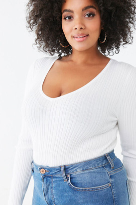 Forever 21 Plus Size V-Neck Sweater