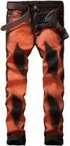 TMBSE Men's Slim Fit Retro Jeans Jogger Pants