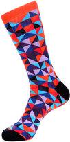 Jared Lang Geometric-Print Cotton-Blend Socks