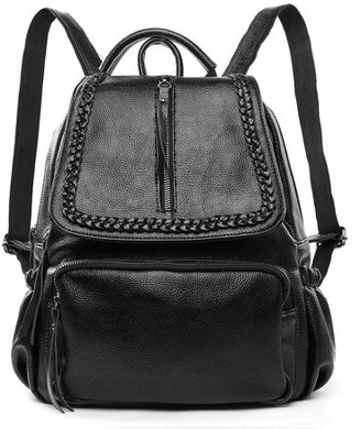 Vangoddy Women's Genuine Leather Backpack with Adjustable Shoulder Strap for Everyday Use