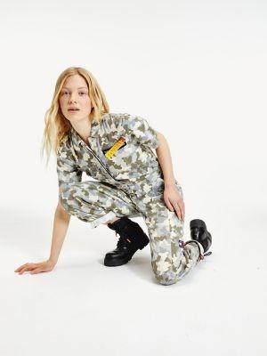 Tommy Hilfiger Camouflage Denim Utility Jumpsuit