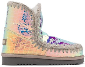 Mou Eskimo 18 iridescent boots