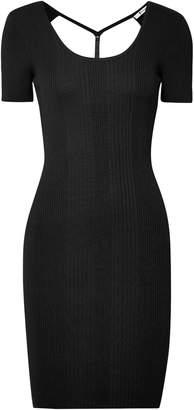 Alexander Wang Cutout Ribbed Wool Mini Dress