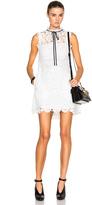 Self-Portrait Watteau Back Mini Dress