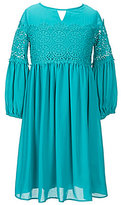 Blush by Us Angels Big Girls 7-16 Lace-Inset Dress