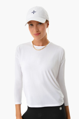 Addison Bay White Tie Back Longsleeve Tee