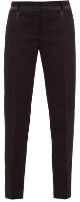 No.21 No. 21 - Side-stripe Crepe Slim-leg Trousers - Black