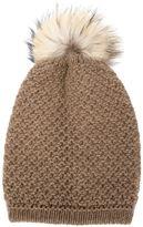 Inverni racoon fur pompom beanie