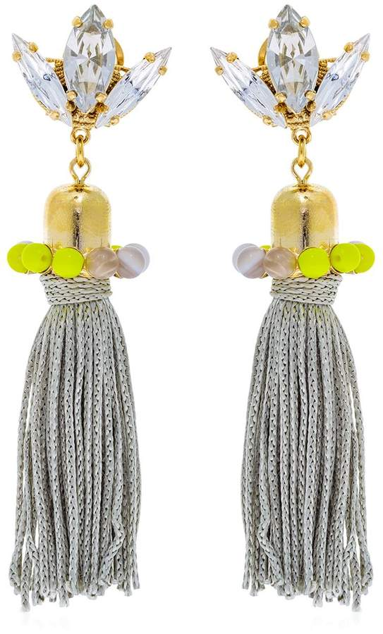 Anton Heunis Color Block Tassel Earrings