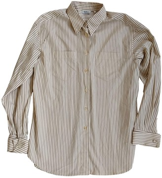 Marella Beige Cotton Top for Women
