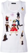 Dolce & Gabbana Designers Fairytale patch tank top - women - Silk/Cotton - 42
