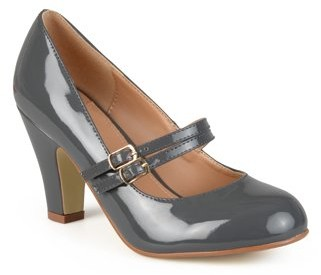 Brinley Co. Women's Medium and Wide Width Mary Jane Patent Leather Pumps