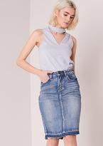 Missy Empire Anthea Denim Midi Skirt