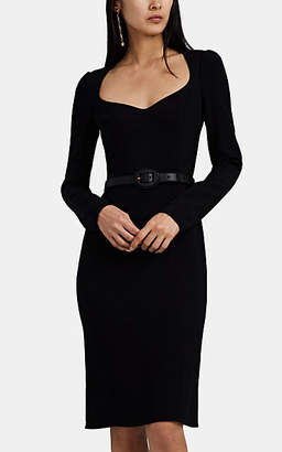 Dolce & Gabbana Women's Cady Fitted Midi-Dress - Black