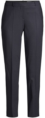 BOSS Tiluna Regular-FIt Stretch Wool-Blend Shadow Check Cropped Suiting Trousers