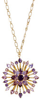 Carolee Large Embellished Flower Pendant Long Necklace