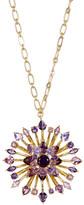 Carolee Large Embellished Flower Pendant Long Necklace