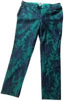 Erdem Green Wool Trousers for Women