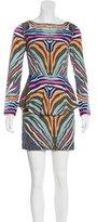 Mara Hoffman Zebra Print Peplum Dress
