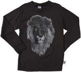 Charlie Rocket Lion Tee (Toddler/Kid) - Ebony-7