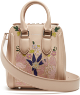 Alexander McQueen Heroine embroidered small leather cross-body bag
