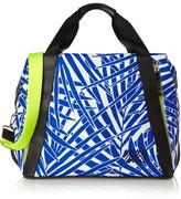 Monreal London Curacao Printed Leather-trimmed Canvas Shoulder Bag - Royal blue