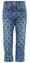 Stella McCartney Blue Denim Embroidered Jean