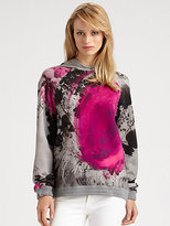 Christopher Kane Paint Spot Floral Hoodie