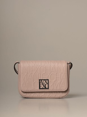 Armani Collezioni Armani Exchange Crossbody Bags Armani Exchange Shoulder Bag In Synthetic Leather With Embossed Logo