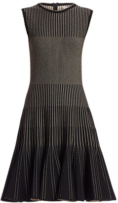 Oscar de la Renta Sleeveless Ribbed Dress