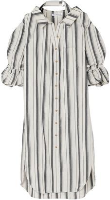 REJINA PYO Amber Striped Cotton And Linen-blend Shirt Dress