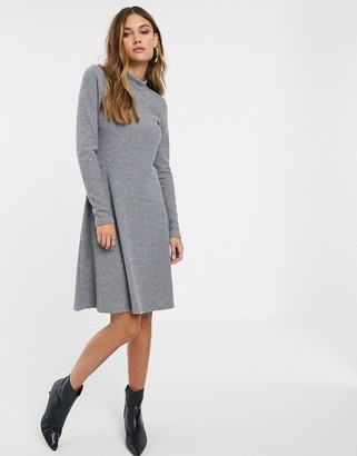 Y.A.S rib knitted mini dress