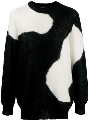 Ann Demeulemeester Two-Tone Knitted Jumper