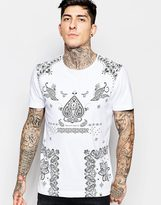 Pretty Green T-shirt With Jerry Print - White