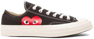 Comme des Garcons Converse Large Emblem Low Top Canvas Sneakers in Black | FWRD