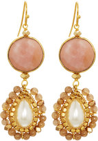Nakamol Agate & Pearl Double-Drop Earrings