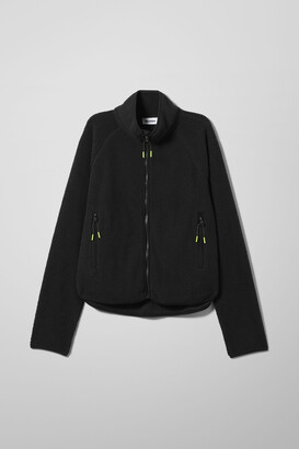 Weekday Katy Fleece Jacket - Black